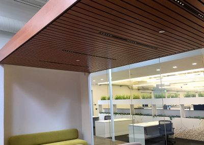 Linear Wood Ceiling at Baidu Inc.