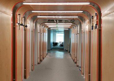 Hallway in Google headquarters